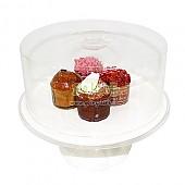 원형 케익커버 기둥 케이크 보관함