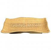 뱀부매트 줄무늬직사각접시
