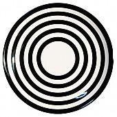 흑백줄무늬 원형접시