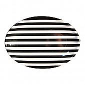 흑백줄무늬 타원접시