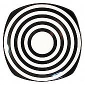 흑백줄무늬 사각접시