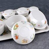 병원용 유아식기세트 원형 멜라민그릇 단체급식 아기그릇