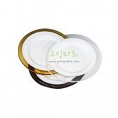 컬러테두리 유리접시(투명색)