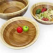 대나무 원형볼 원목 나무 그릇