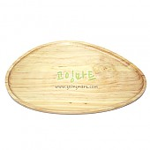 원색타원접시 대 원목 나무 접시