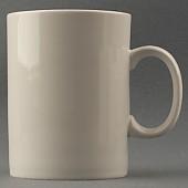 화이트 일자머그컵