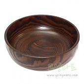 옻칠비빔기 원목 나무 그릇