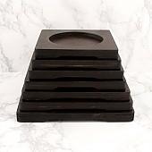 월넛 사각받침 뚝배기 돌솥 솥 받침 업소용 주방 용품 기구
