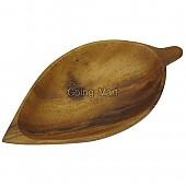 원목 나무 접시 아카시아 나뭇잎 미니접시