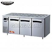 라셀르 6자 반찬 테이블 냉장고 LTB-1833R LTB-1834R