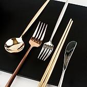 BSF 몽블랑 킹덤 커트러리 골드 식기 양식기 강식당