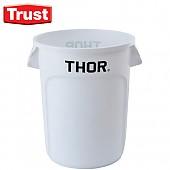 트러스트 THOR® 토르 다용도 원형 컨테이너(흰색)