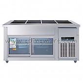찬밧드(글라스)1500 WSM-150RB(G) 냉장 275ℓ