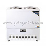 칼라 육수 냉장고 2말 쌍통 1라인 냉장 76L WSR-202