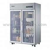 고급형 간냉식 냉장고 글라스 도어 냉장 1075L WSFM-1260DR(2G)