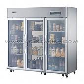 고급형 간냉식 냉장고 글라스 도어 냉장 1683L CWSM-1900DR(3G)