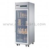 고급형 간냉식 냉장고 글라스 도어 냉장 476L WSFM-650R(1G)