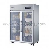 고급형 간냉식 냉장고 글라스 도어 냉장 1057L WSFM-1260DR(2G)