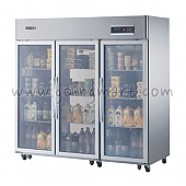 고급형 간냉식 냉장고 글라스 도어 냉장 1647L WSFM-1900DR(3G)