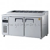 고급형 직냉식 토핑테이블1500 (냉장486ℓ) GWM-150RTT (밧드통포함)
