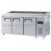 고급형 직냉식 토핑테이블1800(6자) GWM-180RTT 냉장 617ℓ (밧드통포함)