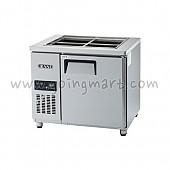 고급형 간냉식 찬밧드테이블900(3자) GWFM-090RBT 냉장 159ℓ