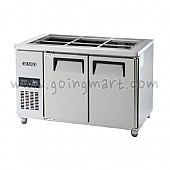 고급형 간냉식 찬밧드테이블1200(4자) GWFM-120RBT 냉장 262ℓ