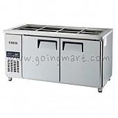 고급형 간냉식 찬밧드테이블1500(5자) GWFM-150RBT 냉장 364ℓ