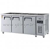 고급형 간냉식 찬밧드테이블1800(6자) GWFM-180RBT 냉장 466ℓ