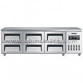 낮은서랍식냉테이블 1800(6자) CWSM-180LDT 냉장 310ℓ