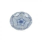물결 앞접시-꽃잎