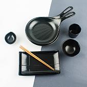 멜라민 업소용 그릇 먹토 블랙 접시 로라시리즈 모음
