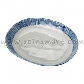 아키 블루띠 접시