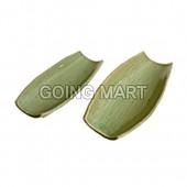 옥분청 넓은대잎접시
